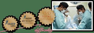 脂肪吸引のこだわり   日本一腕のある先生に お願いしたい!   それなら 世界最新の技術 国内で唯一、脂肪吸引の3資格を取得   ベイザー脂肪吸引を使ったボディデザイン技術「VASER Lipo」「VASER 4D SCULPT」「Total Definer」を積極的に取得。全ての提供を正式に許可されているのは、THE CLINIC のドクターのみ。世界最新の技術をもったドクターだからこそ、満足度の高い仕上がりを実現できます。